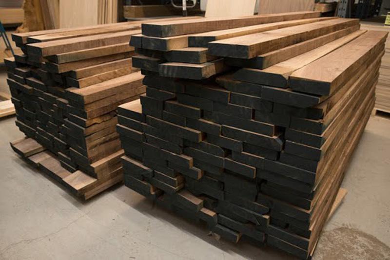 gỗ xẻ sấy dạng gỗ kiện