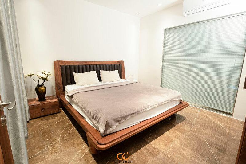 phòng ngủ gỗ chung cư ocean park
