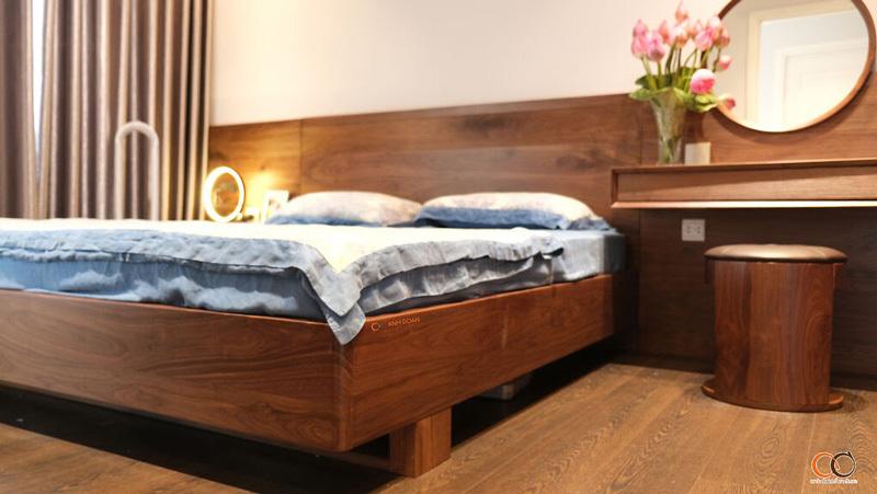 phòng ngủ gỗ óc chó imperia