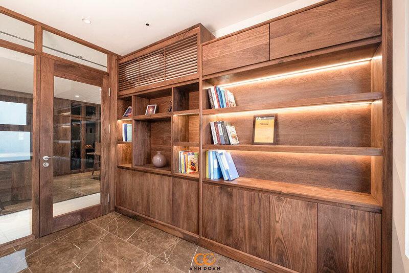 nội thất gỗ óc chó xẻ sấy