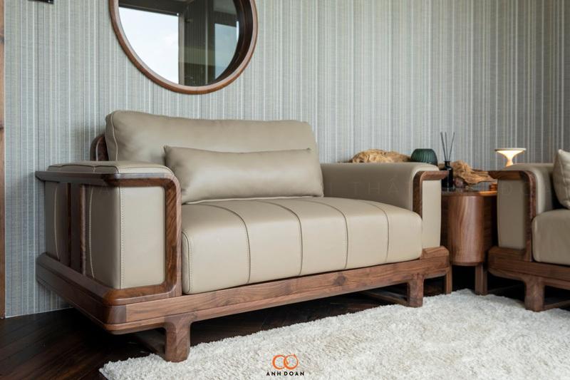 Mẫu bàn ghế làm từ gỗ óc óc tự nhiên