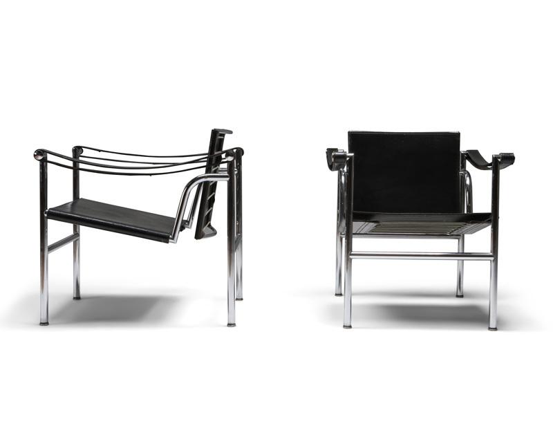 Ghế LC2 kiểu dáng cổ điển cho Le Corbusier thiết kế.