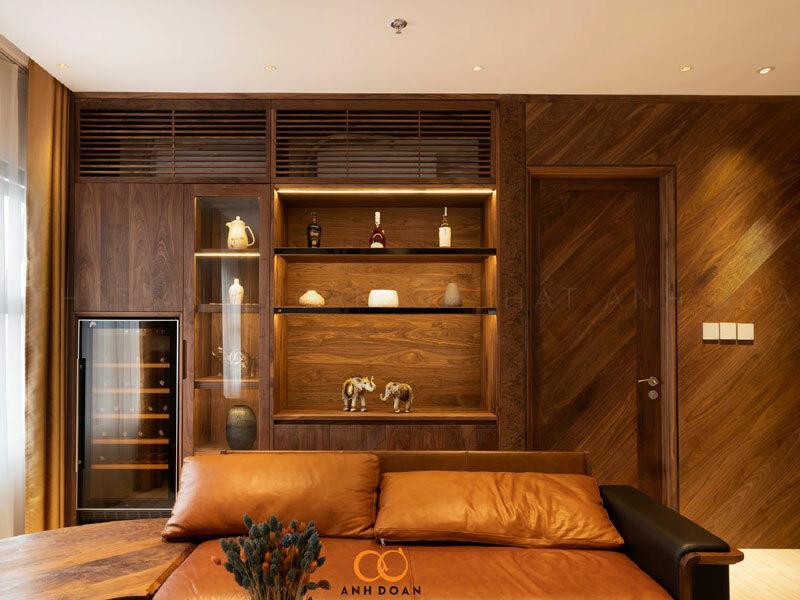 sofa gỗ óc chó ocean park