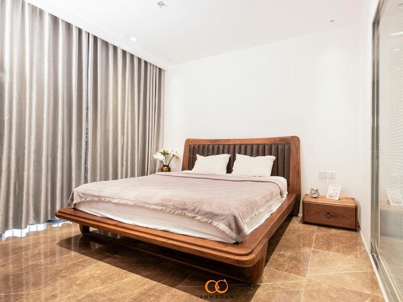 mẫu giường ngủ gỗ óc chó ocean park