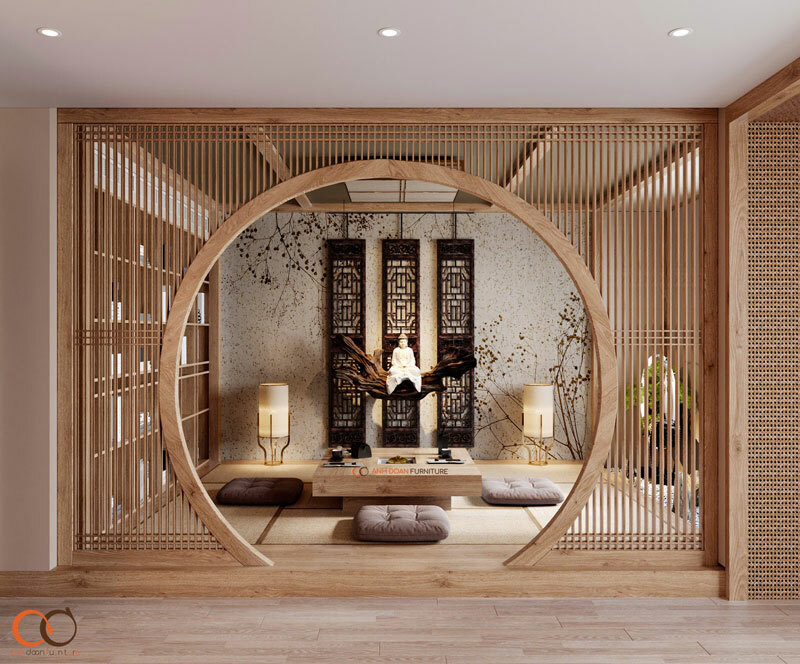 thiết kế nội thất đồng bộ không gian