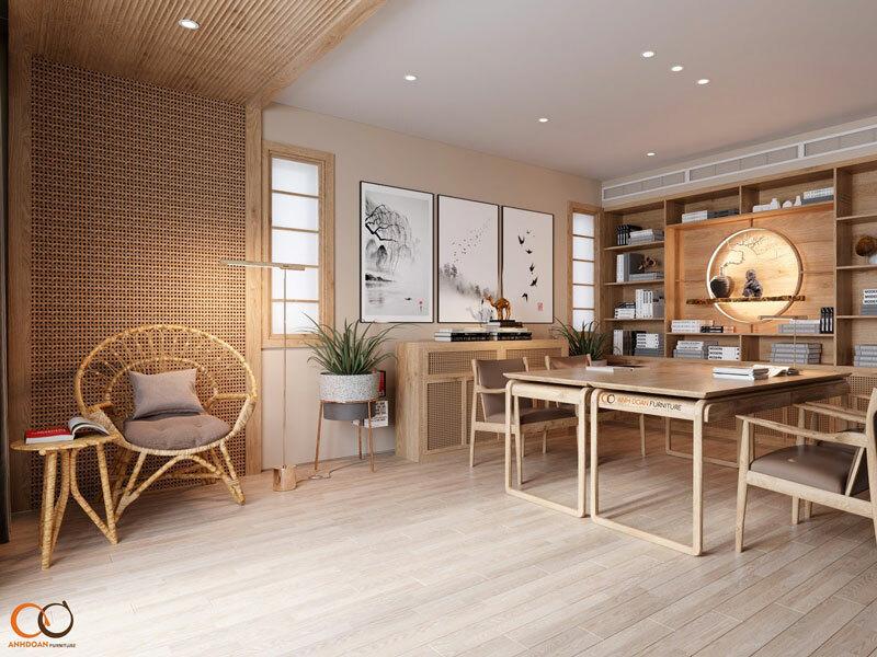 thiết kế 3D nội thất biệt thự tối giản