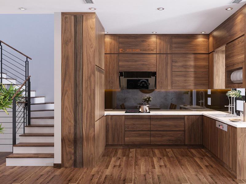 3D nội thất bếp biệt thự The Manor