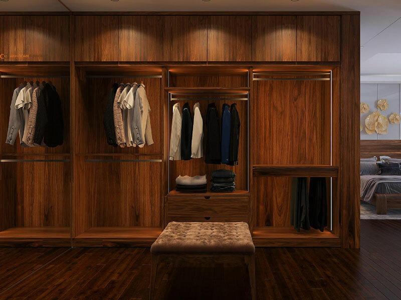 mẫu tủ quần áo căn hộ