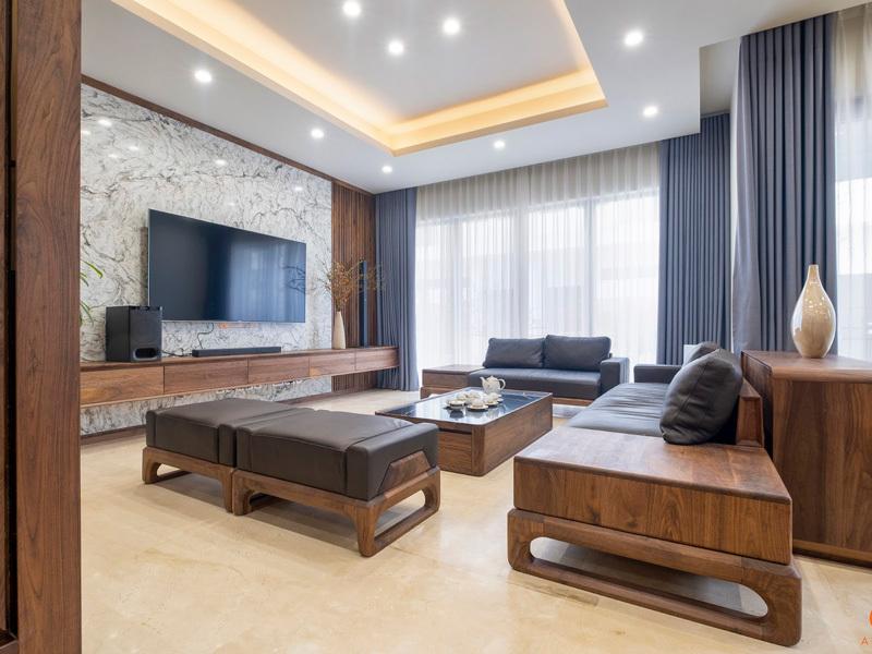không gian nội thất phòng khách