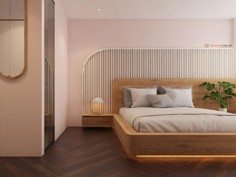 nội thất phòng ngủ gỗ sồi