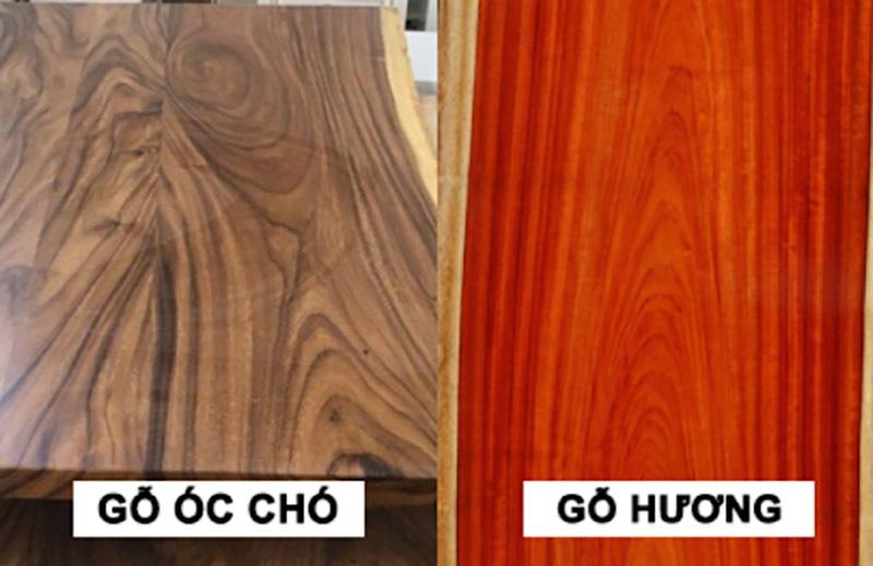 So sánh gỗ óc chó và gỗ hương về thẩm mỹ