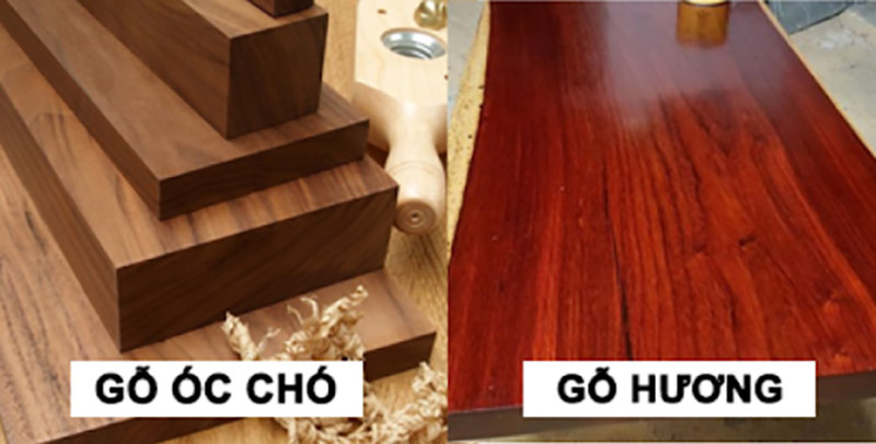 So sánh gỗ óc chó và gỗ hương về độ bền