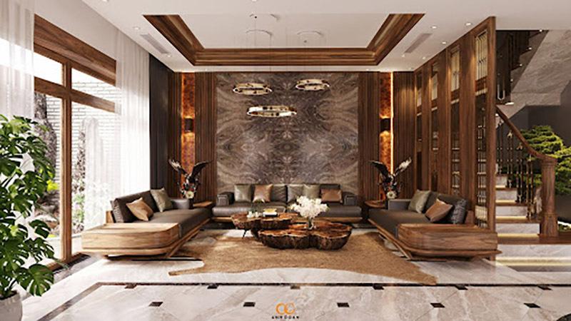Sofa gỗ óc chó Bắc Mỹ