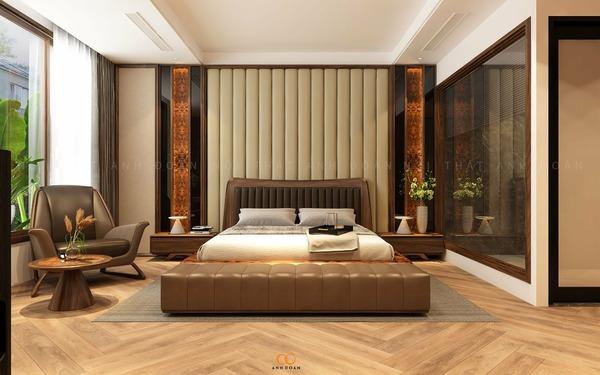Giường ngủ gỗ Óc Chó AD05