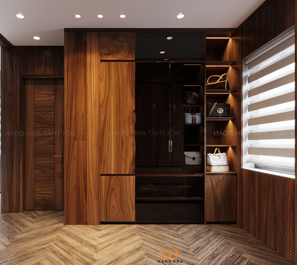 Tủ quần áo gỗ Óc Chó AD05
