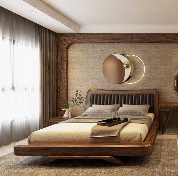 Giường ngủ gỗ Óc Chó AD06