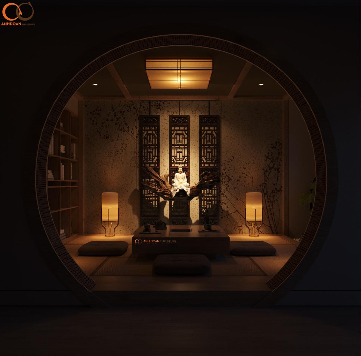 Thiết Kế Thư Phòng - Biệt Thự Tân Triều